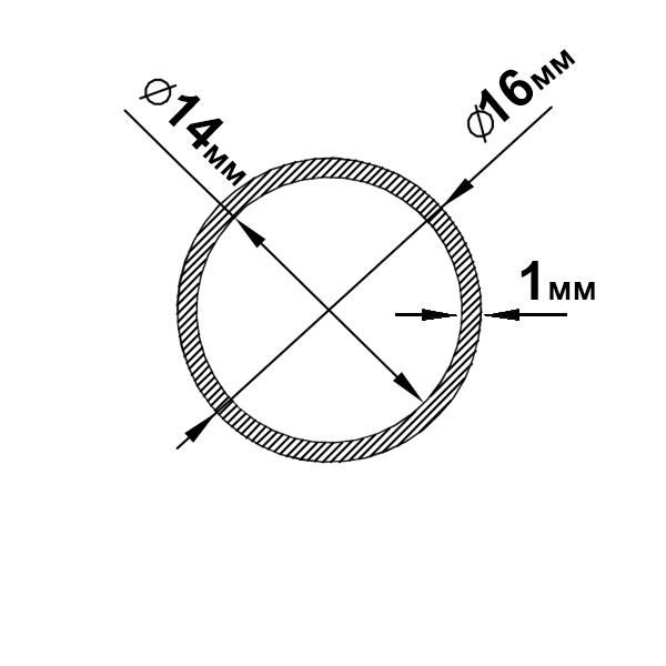 алюминиевая труба круглая 16х1