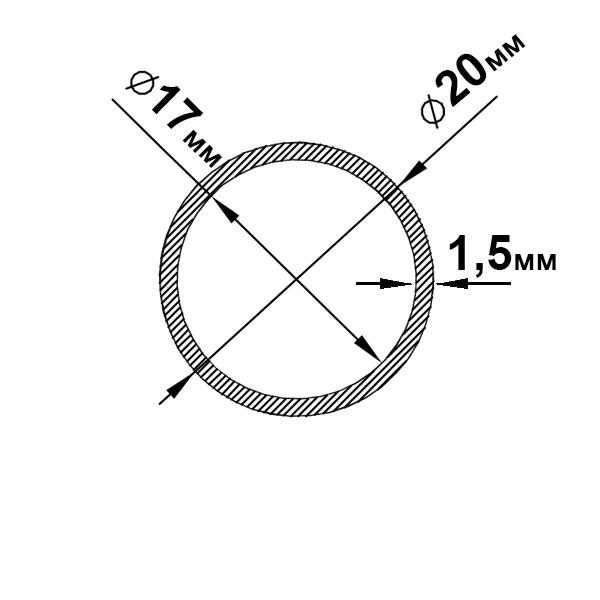 алюминиевая труба круглая 20х1,5