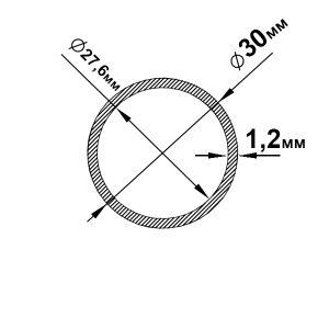 Алюмінієва труба кругла 30х1,2 мм, без покриття