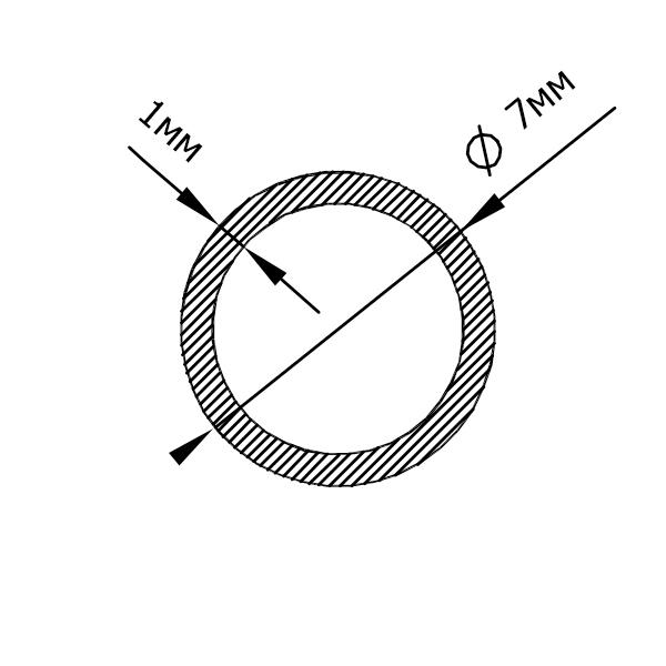 алюминиевая труба круглая 7х1