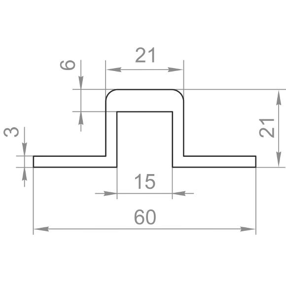 швеллер отбортованный 60x21x3