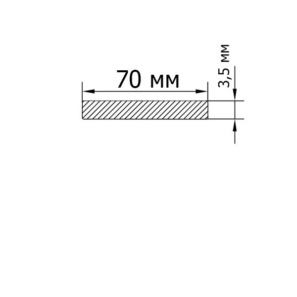 Смуга алюмінієва 70х3,5