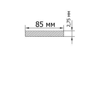 Алюминиевая пластина 82х2,75 мм, без покрытия