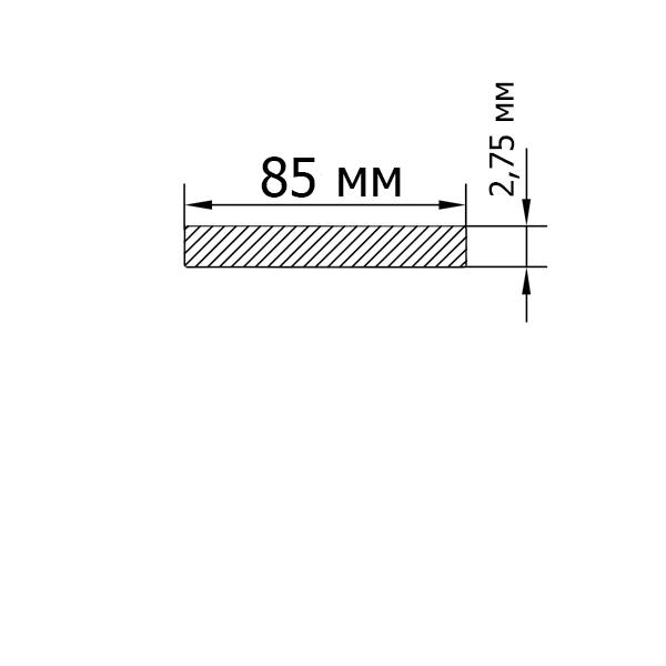 Смуга алюмінієва 82х2,75